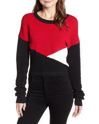 Rebecca Minkoff Scarlett Colorblock Sweater - Red