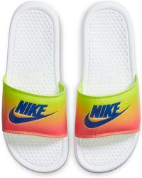 Nike Benassi Print Sandal - White