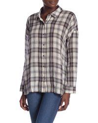 Splendid - Willow Voile Plaid Button Down Shirt - Lyst