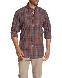 Robert Talbott Anderson Ii Plaid Long Sleeve Classic Fit Shirt - Multicolor