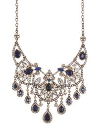 Carolee Rhinestone Drop Statement Necklace - Multicolor