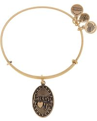 ALEX AND ANI - Because I Love You Charm Expandable Wire Bangle Bracelet - Lyst