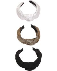 Berry Puff Knotted Headbands - Brown