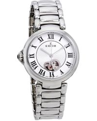 EDOX Watches Women's Lapassion Open Heart Swiss Automatic Bracelet Watch, 33mm - Metallic