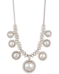 Lucky Brand - Chain Bead Collar Necklace - Lyst