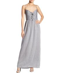 Paper Crown - Douro Bow Metallic Dot Maxi Dress - Lyst
