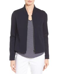Nordstrom - Wool Blend Knit Bomber Jacket - Lyst