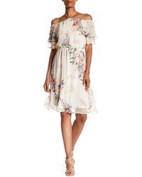 Fraiche By J - Off-the-shoulder Ruffle Floral Print Dress - Lyst