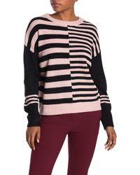 Catherine Malandrino - Striped Colorblock Pullover - Lyst