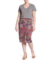 Hiatus - Printed Hacci Skirt (plus Size) - Lyst