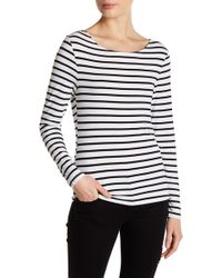 FRAME - Stripe Long Sleeve Tee - Lyst