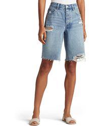 Joe's Jeans Distressed Bermuda Shorts - Blue