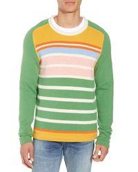 FRAME Classic Fit Camp Crewneck Sweater - Green