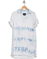 Velvet Heart Macey Tie-dye Popover Shirt Dress - Blue
