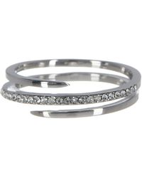 Judith Jack - Sterling Silver Pave Cz Wrap Band Ring - Size 7 - Lyst