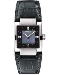 Tissot - Women's T02 Diamond Accent Croc Embossed Leather Strap Watch, 31.6mm - 0.0228 Ctw - Lyst