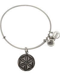 ALEX AND ANI - Aphrodite's Flower Charm Expandable Wire Bracelet - Lyst