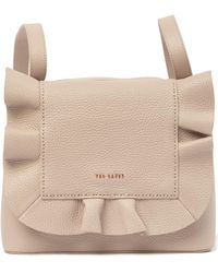 Ted Baker - Rammira Small Leather Ruffle Backpack - Lyst