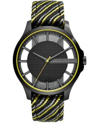 Armani Exchange - Men's Aix Woven Band Watch, 46mm - Lyst