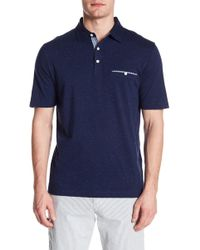 Thomas Dean - Short Sleeve Knit Polo - Lyst