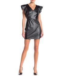Jealous Tomato Faux Leather Mini Dress - Black
