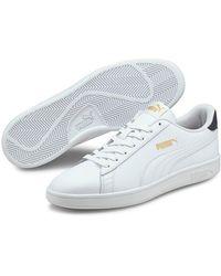 PUMA Suede Smash V2 (charcoal Gray/ Team Gold/ White) Shoes for ...