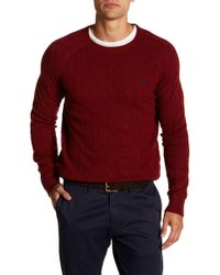 Brooks Brothers - Wool Cable Crew Sweater - Lyst