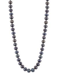 Splendid - 14k Gold Black 7mm Freshwater Pearl Necklace - Lyst