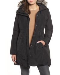 The North Face Transarctic Mama Faux Fur Trim Hooded Down Parka - Black