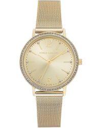 Vince Camuto Women's Champagne Mesh Bracelet Watch, 34mm - Metallic