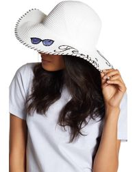BCBGeneration Feelin' Shady Floppy Hat - White