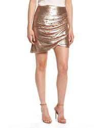 Elliatt - Tresor Sequin Miniskirt - Lyst
