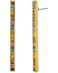 Steve Madden - Multi-colored Crystal Bar Earrings - Lyst
