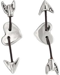 Uno De 50 - Iman & Bowine Arrow & Heart Stud Earrings - Lyst