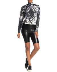 Love, Fire High Waisted Faux Leather Biker Shorts - Black