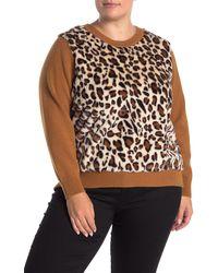 Catherine Malandrino Faux Fur Front Sweater - Multicolor