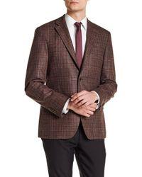 Spurr By Simon Spurr - Logan Plaid Slim Fit Wool Sport Coat - Lyst