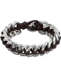 Uno De 50 - Seduce Me Interlocked Leather & Chain Bracelet - Lyst
