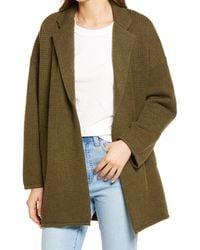 Madewell Laguna Stitch Wool Blend Coat - Green