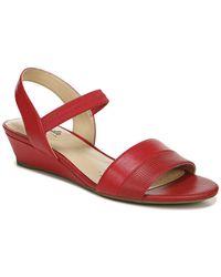 LifeStride Yuma Wedge Sandal - Red