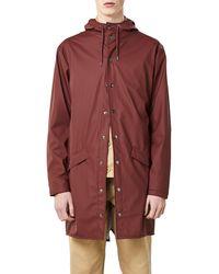 Rains Waterproof Hooded Long Rain Jacket - Multicolour