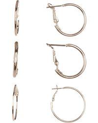 Joe Fresh - Hoop Earring Set - Set Of 3 - Lyst