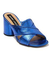 Marc Jacobs Aurora Leather Mule - Blue