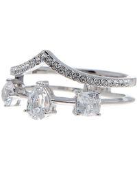 Nadri - Celeste Cz Double Row Diadem Ring - Size 6 - Lyst
