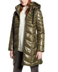 Sam Edelman Hooded Puffer Jacket - Green
