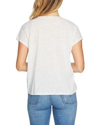 1.STATE - Speckle Cinch Front Knit Top - Lyst