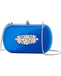 Badgley Mischka Crystal Embellished Clutch - Multicolor