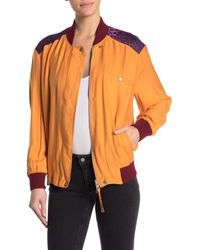 AllSaints Cleo Reversible Bomber Jacket - Orange