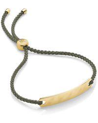 Monica Vinader 18k Gold Plated Sterling Silver Havana Mini Friendship Bracelet - Metallic