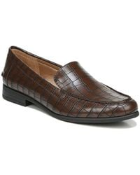 LifeStride Margot Croc Embossed Loafer - Wide Width Available - Brown
